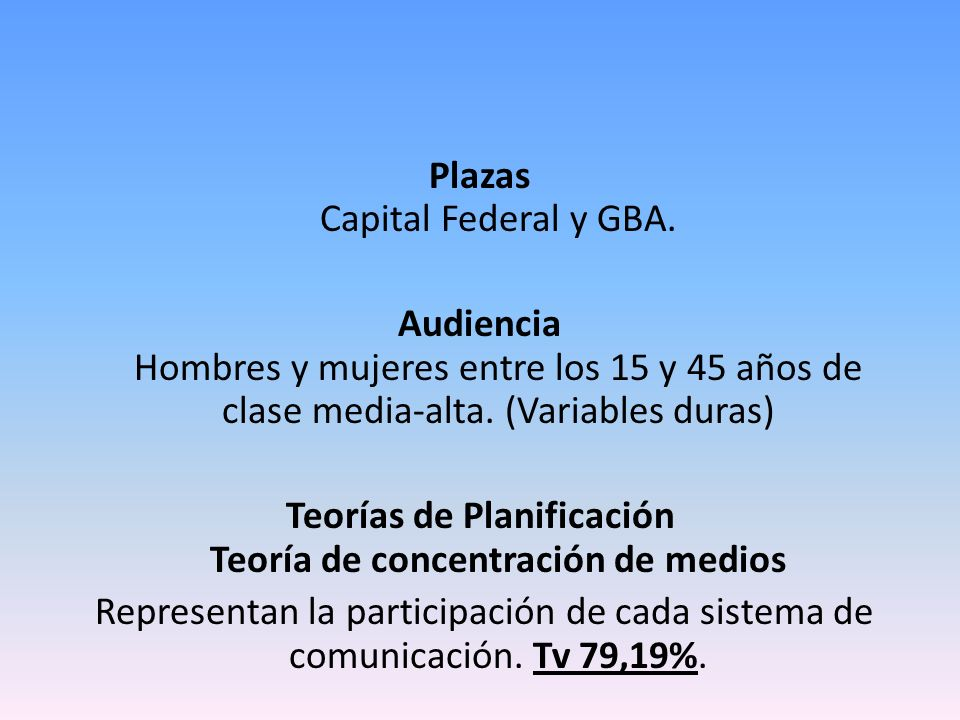 Plazas Capital Federal y GBA.