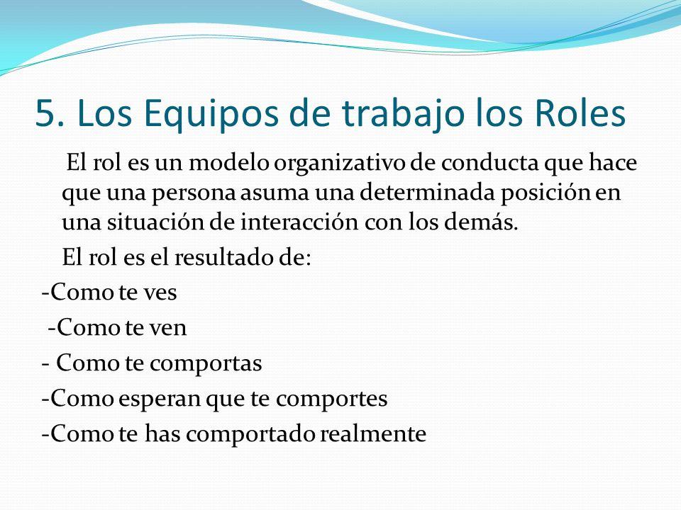 5. Los Equipos de trabajo los Roles