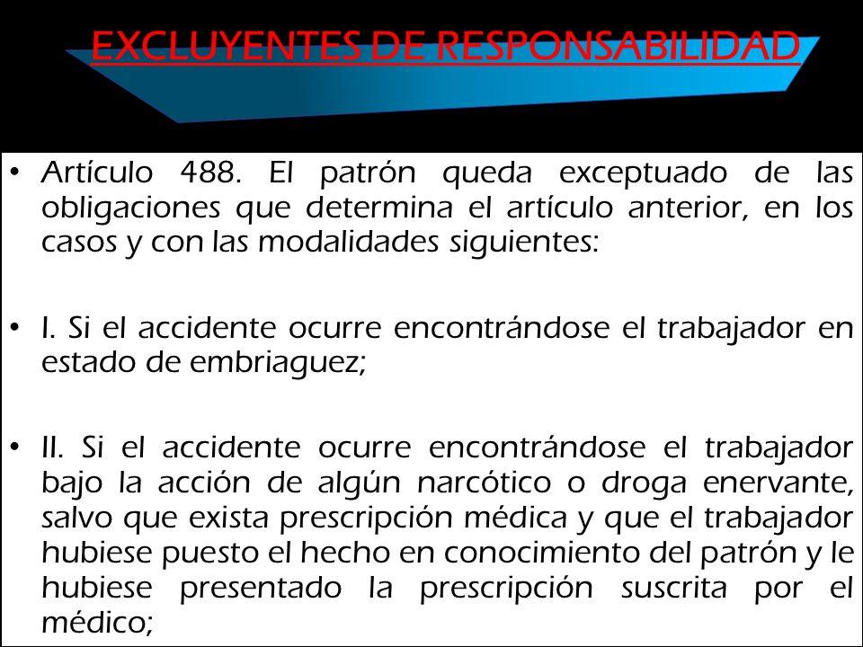 EXCLUYENTES DE RESPONSABILIDAD