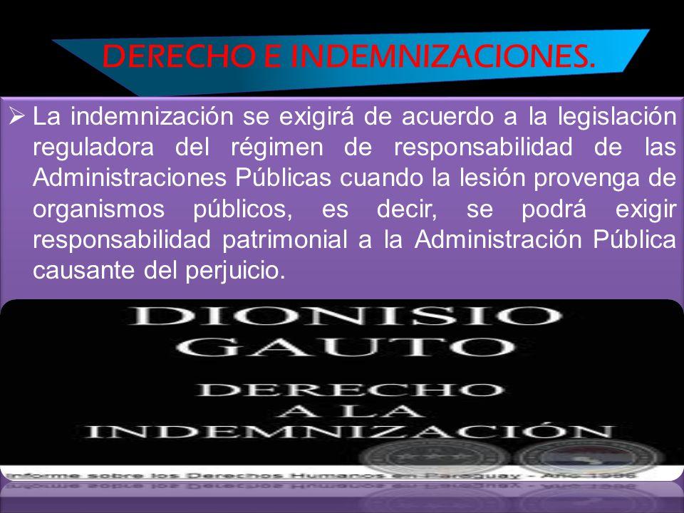 DERECHO E INDEMNIZACIONES.