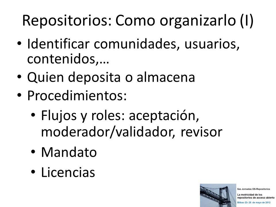 Repositorios: Como organizarlo (I)