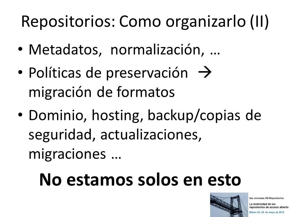 Repositorios: Como organizarlo (II)