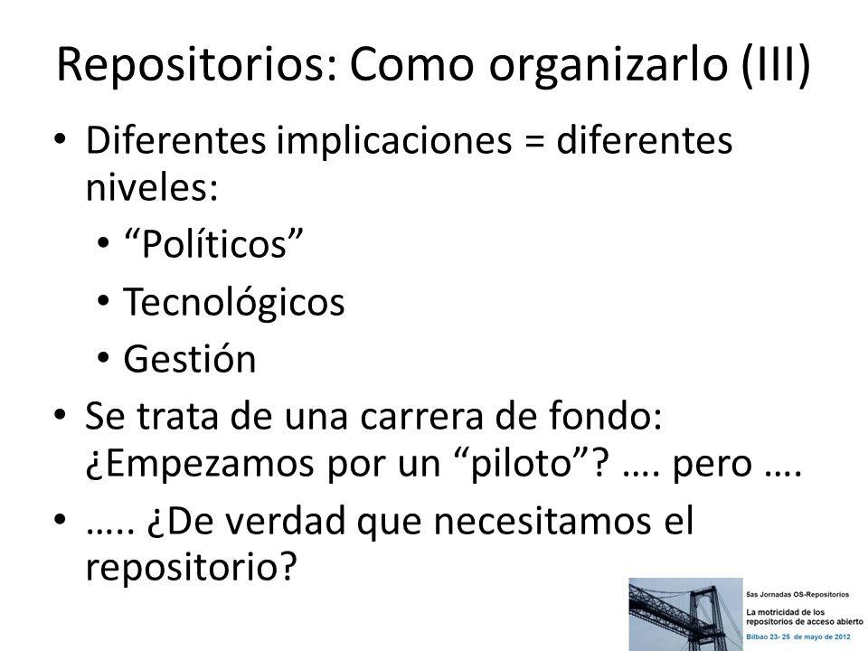 Repositorios: Como organizarlo (III)