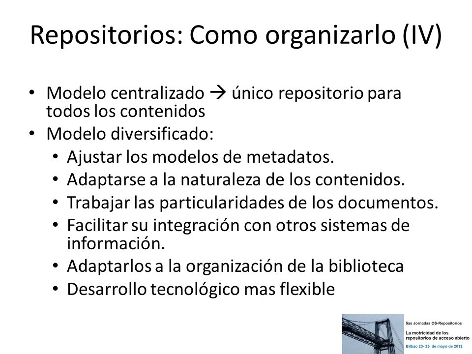 Repositorios: Como organizarlo (IV)