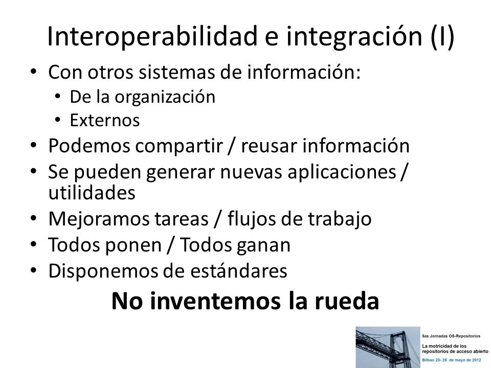 Interoperabilidad e integración (I)