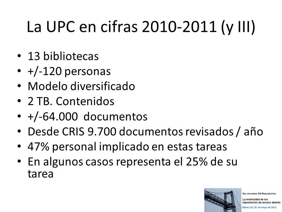 La UPC en cifras 2010-2011 (y III)