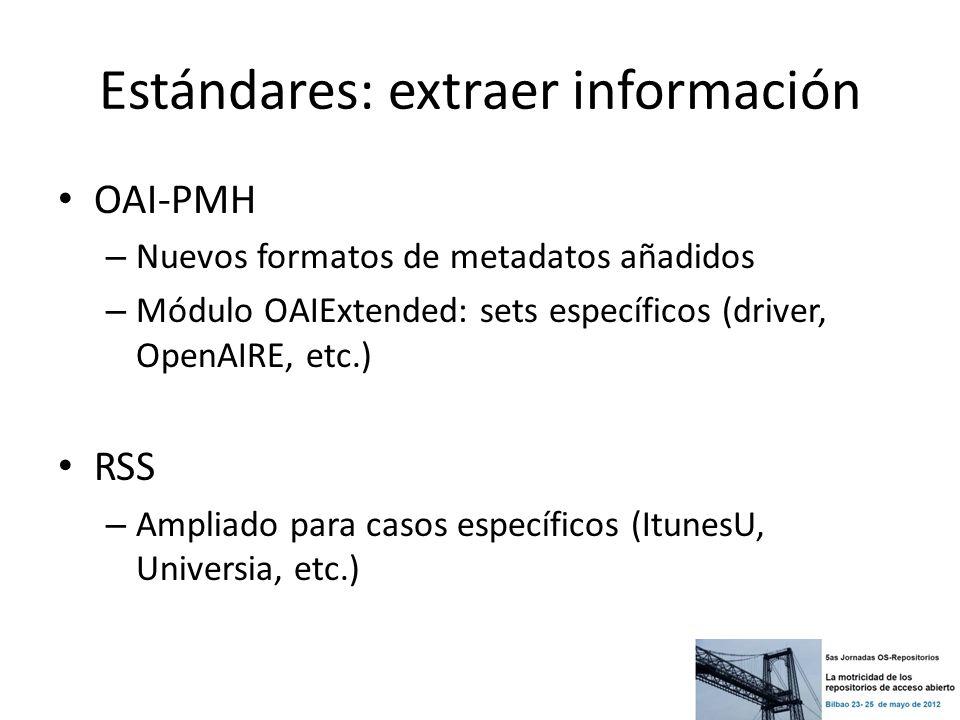 Estándares: extraer información