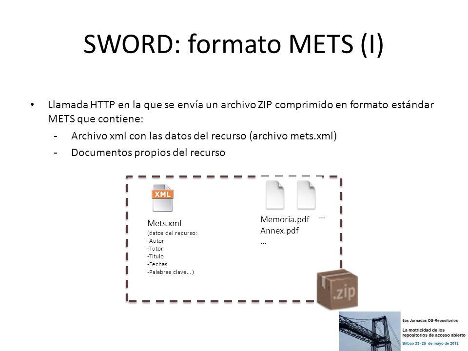 SWORD: formato METS (I)