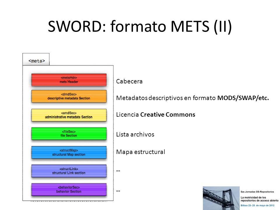 SWORD: formato METS (II)