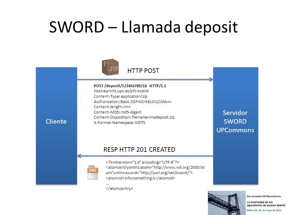 SWORD – Llamada deposit