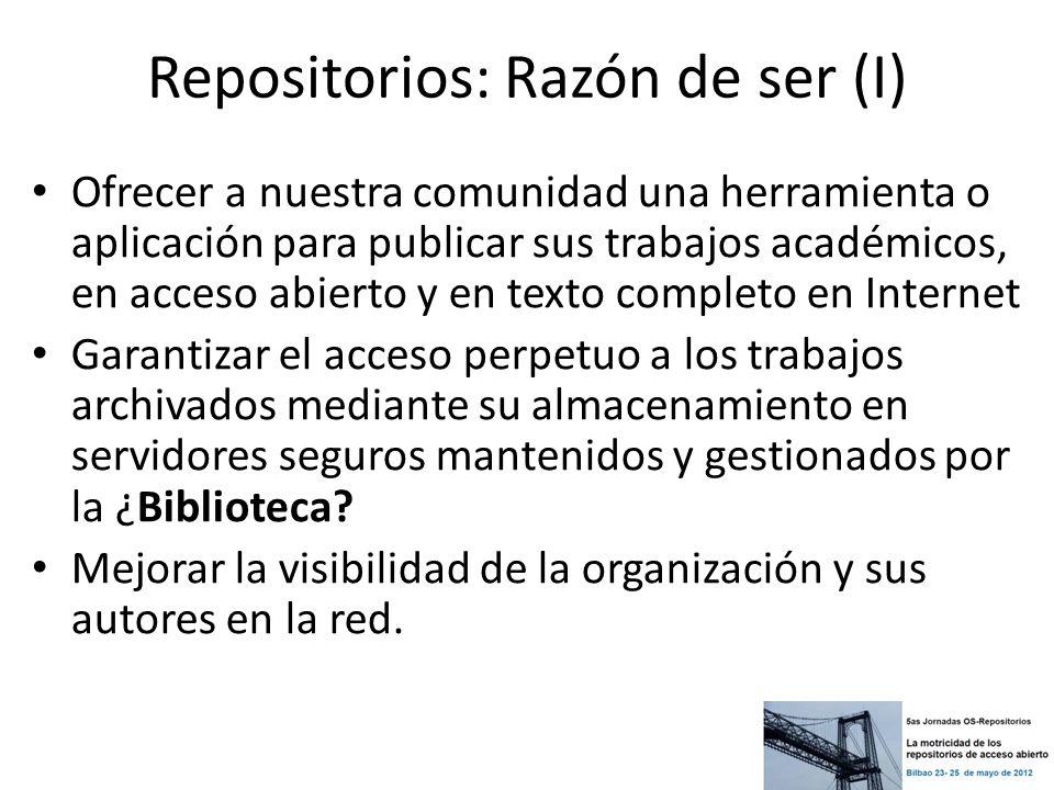 Repositorios: Razón de ser (I)