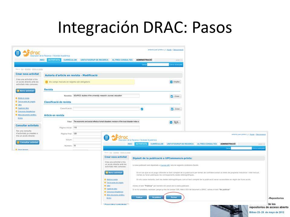 Integración DRAC: Pasos