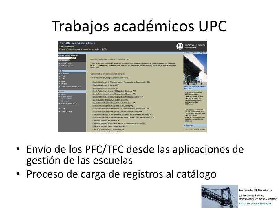 Trabajos académicos UPC
