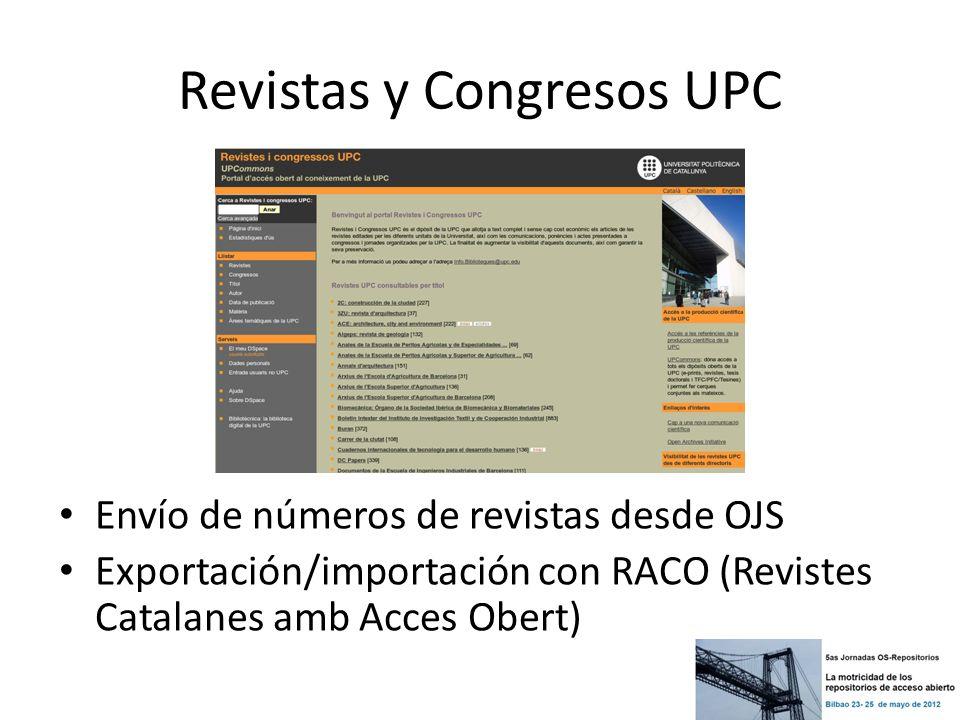 Revistas y Congresos UPC