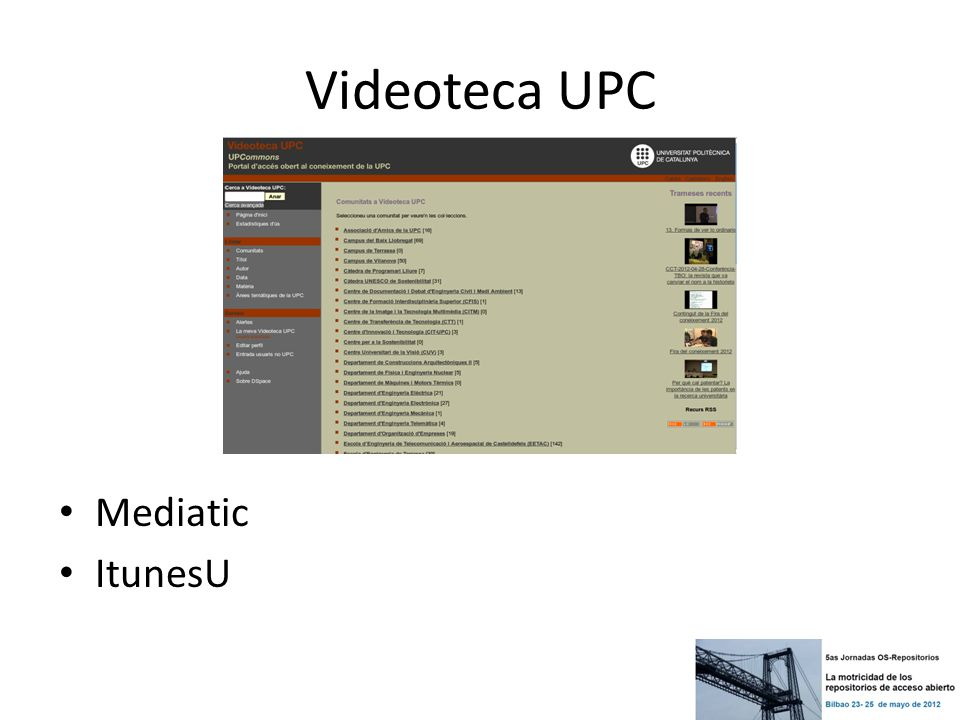 Videoteca UPC Mediatic ItunesU
