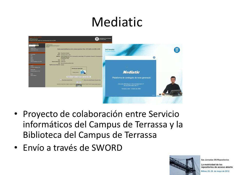 Mediatic Proyecto de colaboración entre Servicio informáticos del Campus de Terrassa y la Biblioteca del Campus de Terrassa.