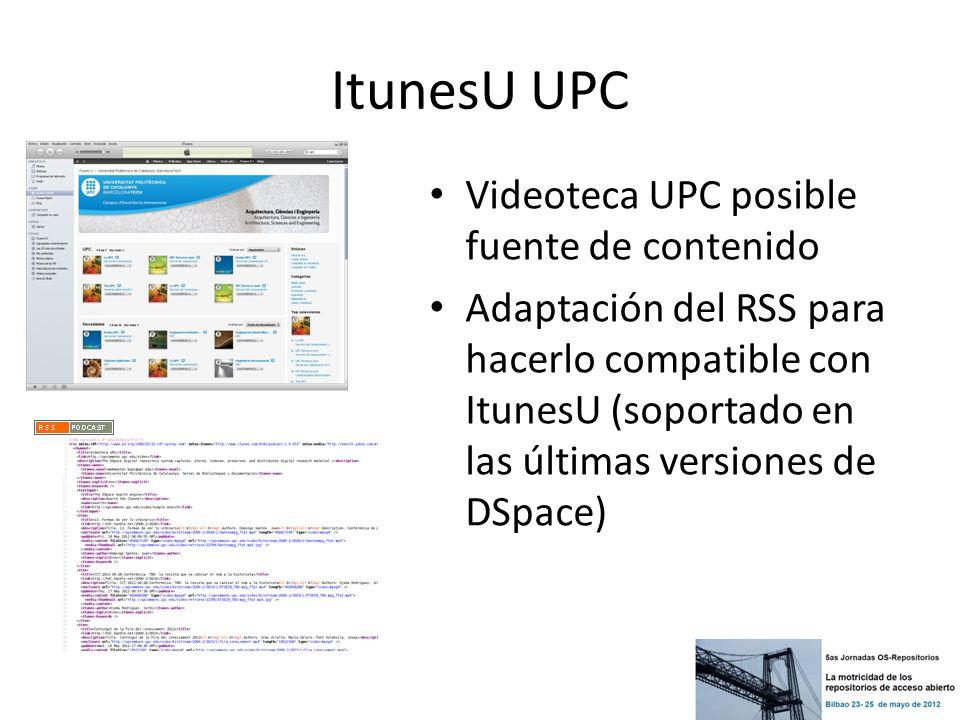 ItunesU UPC Videoteca UPC posible fuente de contenido