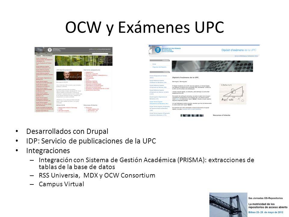OCW y Exámenes UPC Desarrollados con Drupal