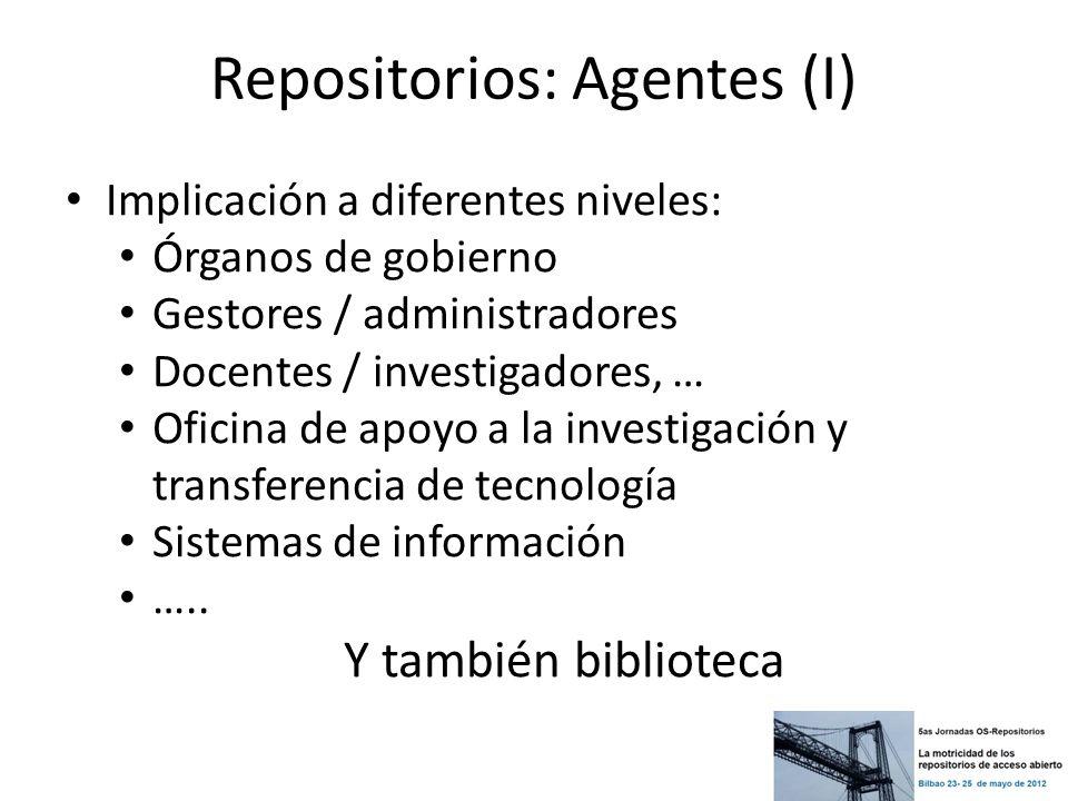 Repositorios: Agentes (I)