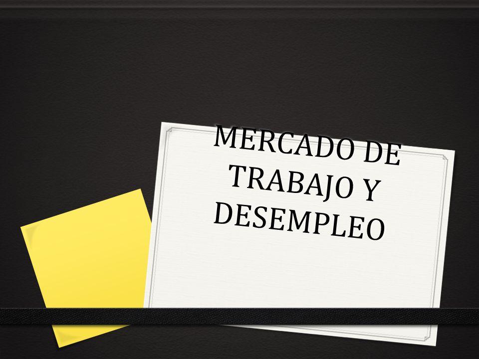 MERCADO DE TRABAJO Y DESEMPLEO