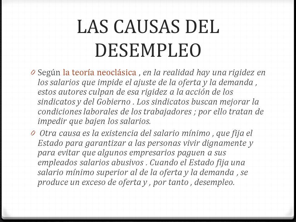 LAS CAUSAS DEL DESEMPLEO