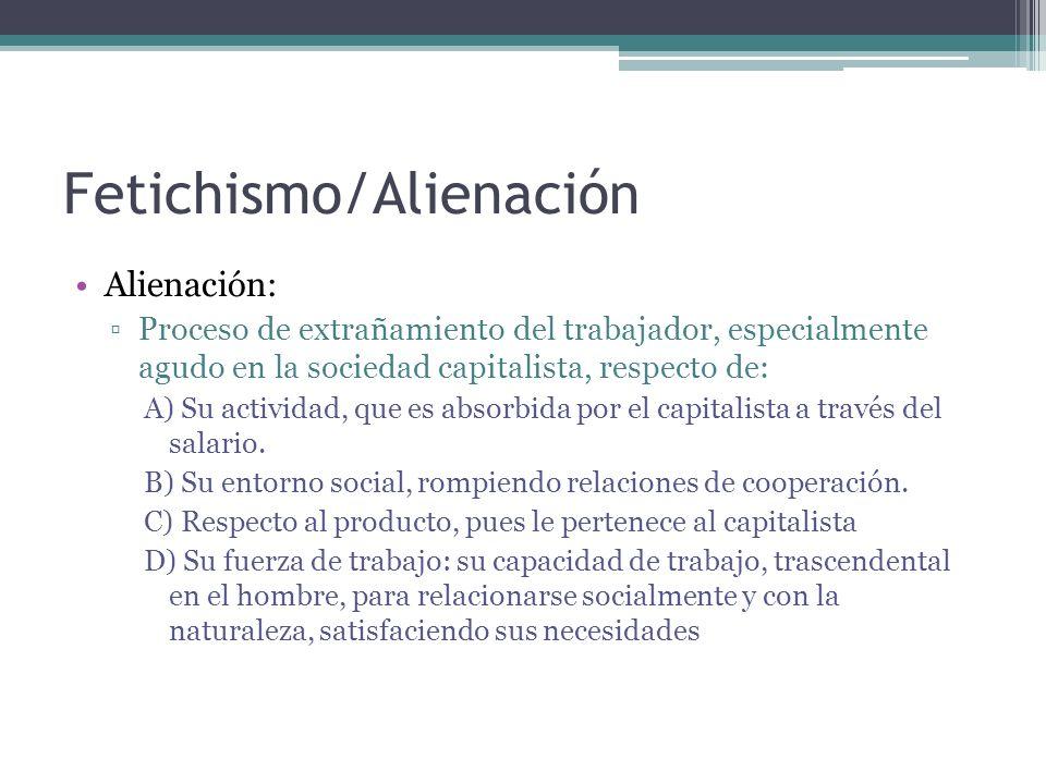Fetichismo/Alienación