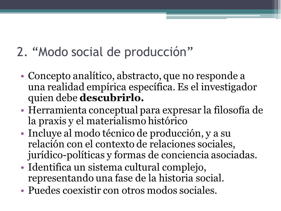 2. Modo social de producción