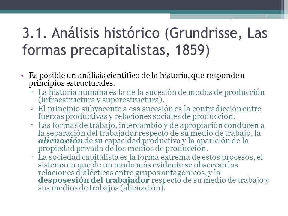 3.1. Análisis histórico (Grundrisse, Las formas precapitalistas, 1859)