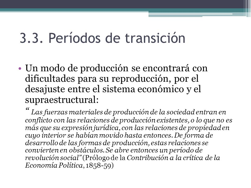 3.3. Períodos de transición