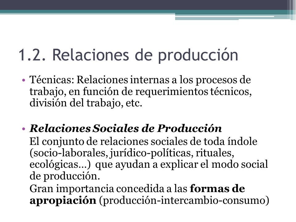 1.2. Relaciones de producción