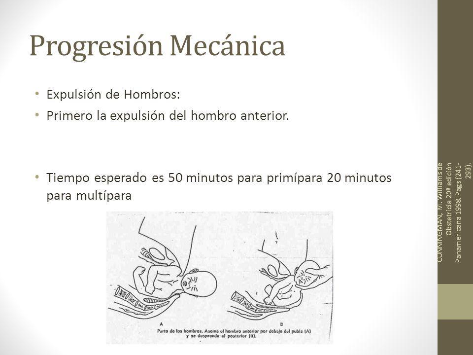 Progresión Mecánica Expulsión de Hombros: