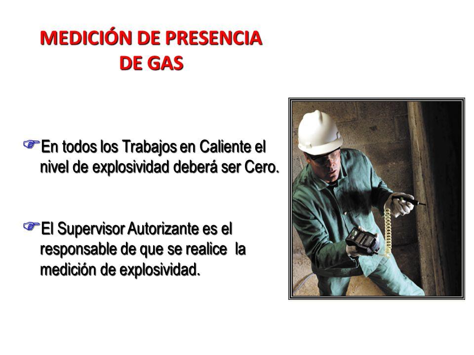 MEDICIÓN DE PRESENCIA DE GAS