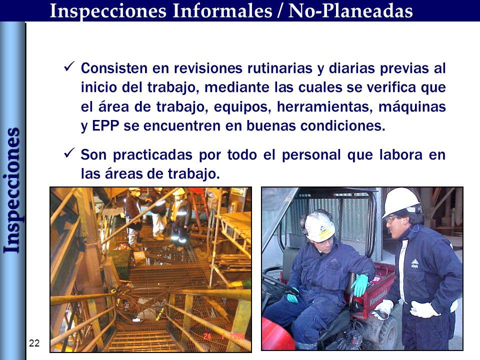 Inspecciones Informales / No-Planeadas