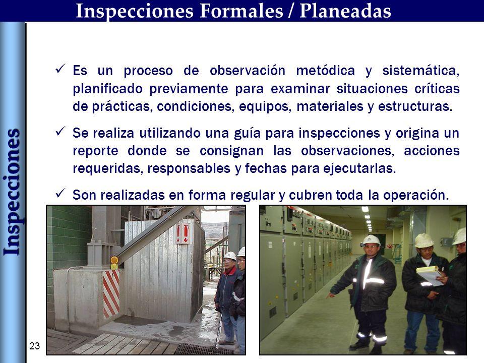 Inspecciones Formales / Planeadas