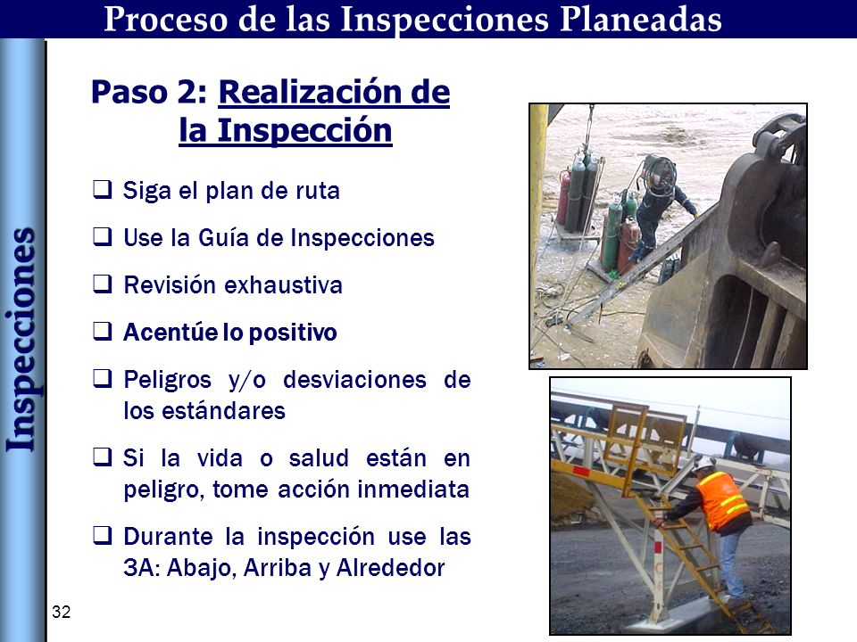 Inspecciones Proceso de las Inspecciones Planeadas