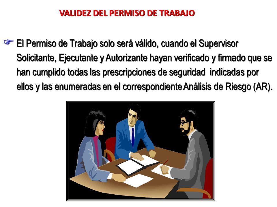 VALIDEZ DEL PERMISO DE TRABAJO