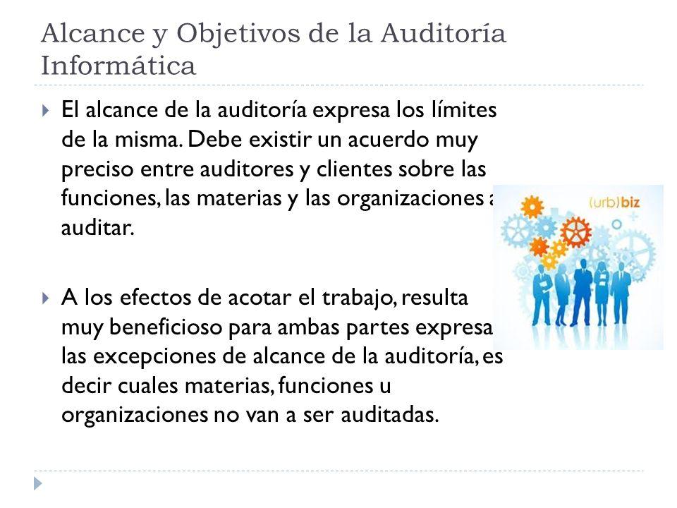 Alcance y Objetivos de la Auditoría Informática