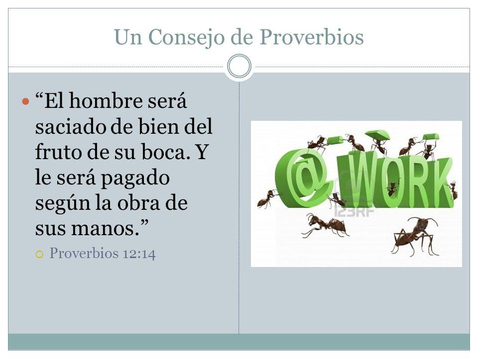 Un Consejo de Proverbios