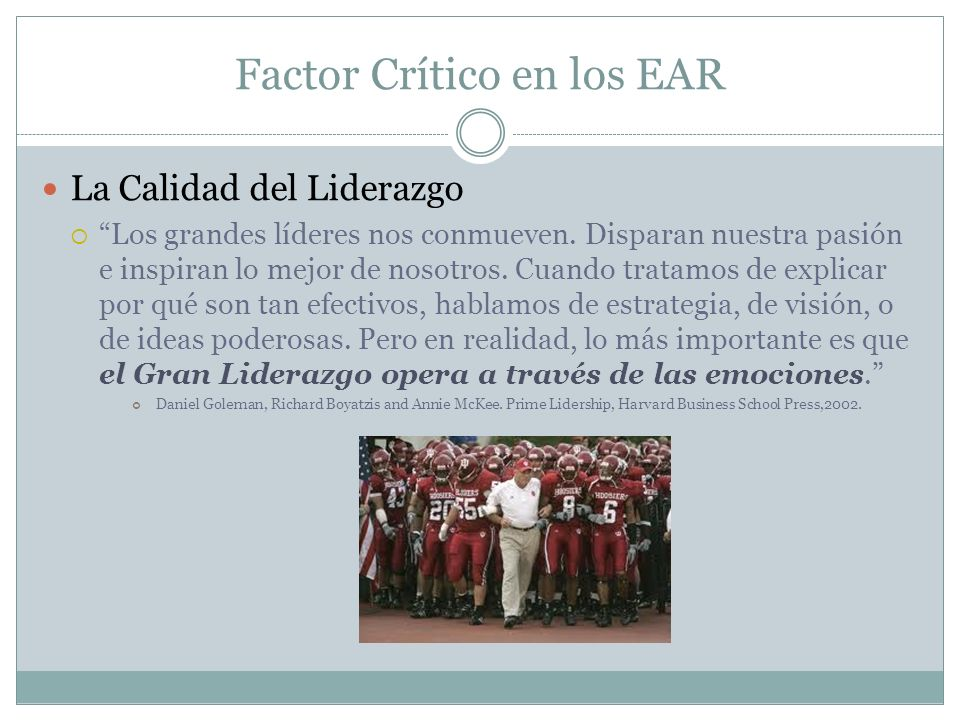 Factor Crítico en los EAR