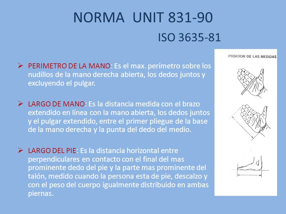 NORMA UNIT 831-90 ISO 3635-81