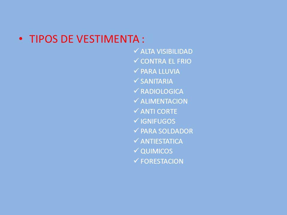TIPOS DE VESTIMENTA : ALTA VISIBILIDAD CONTRA EL FRIO PARA LLUVIA