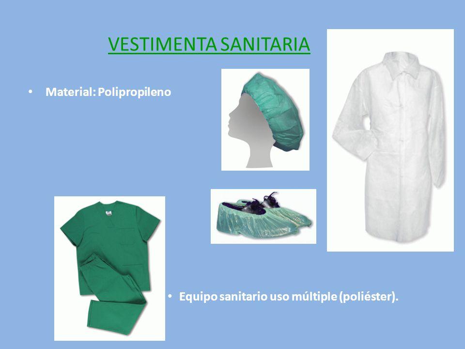 VESTIMENTA SANITARIA Material: Polipropileno
