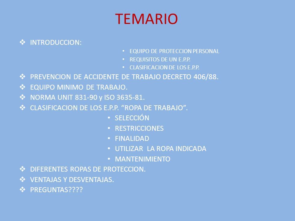 TEMARIO INTRODUCCION: