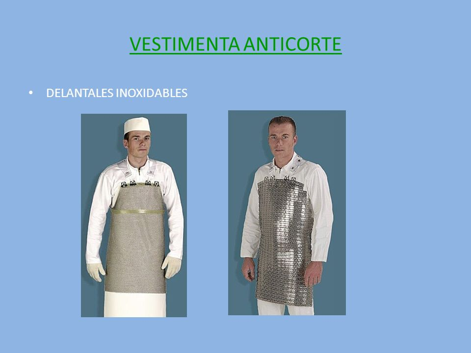 VESTIMENTA ANTICORTE DELANTALES INOXIDABLES