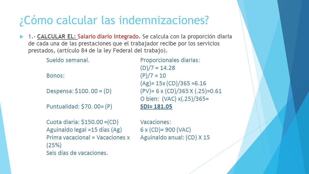 ¿Cómo calcular las indemnizaciones