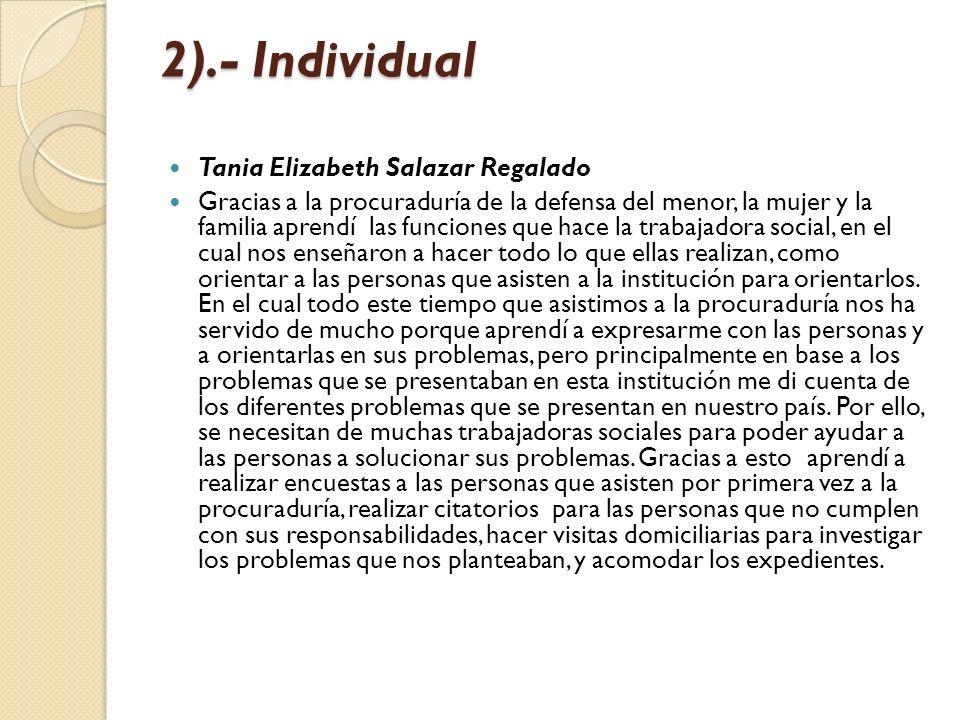 2).- Individual Tania Elizabeth Salazar Regalado