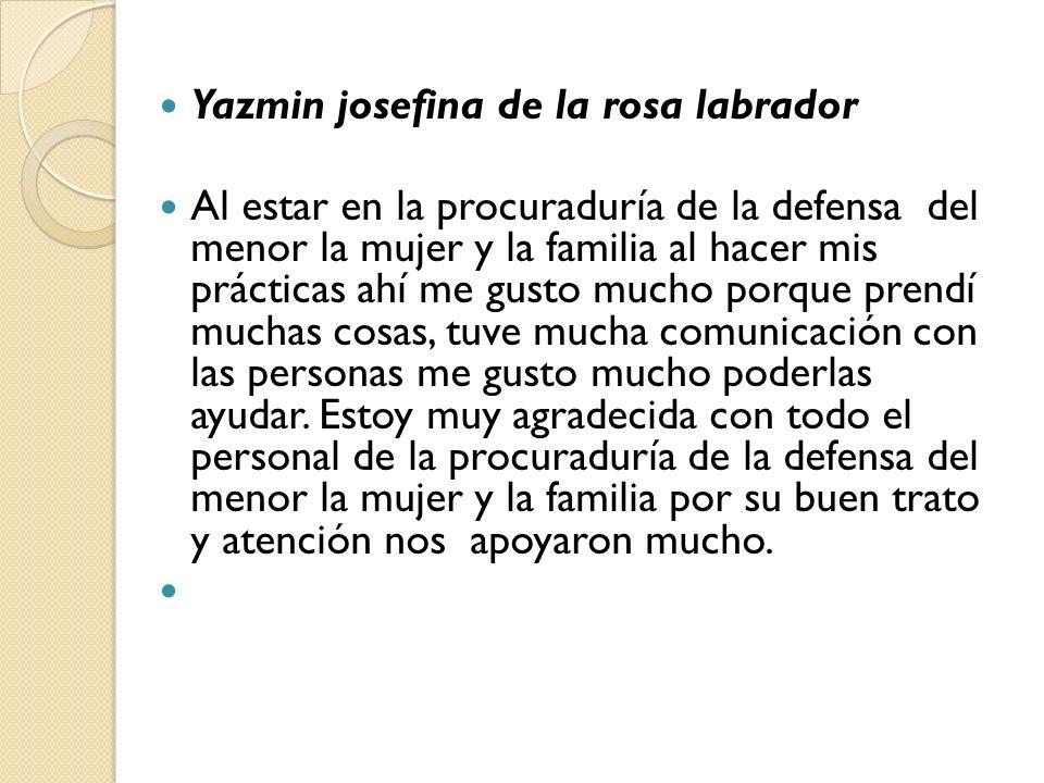 Yazmin josefina de la rosa labrador
