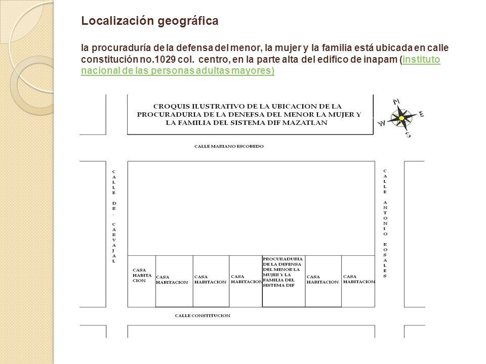 Localización geográfica la procuraduría de la defensa del menor, la mujer y la familia está ubicada en calle constitución no.1029 col.