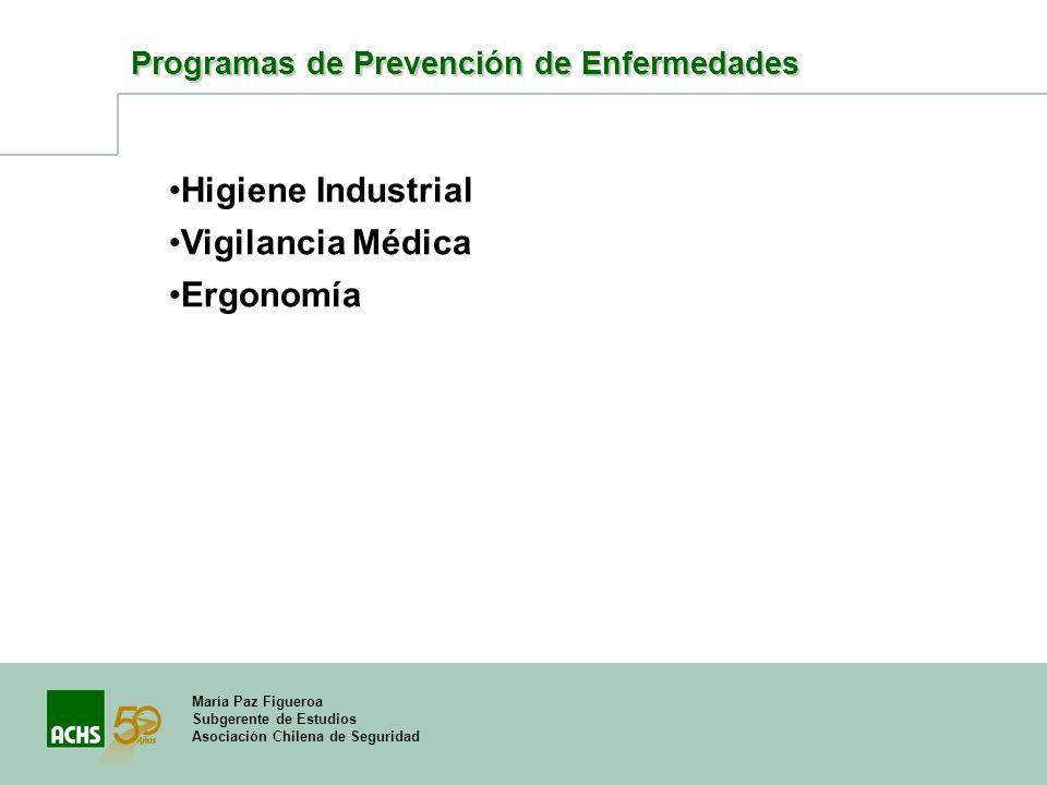 Higiene Industrial Vigilancia Médica Ergonomía