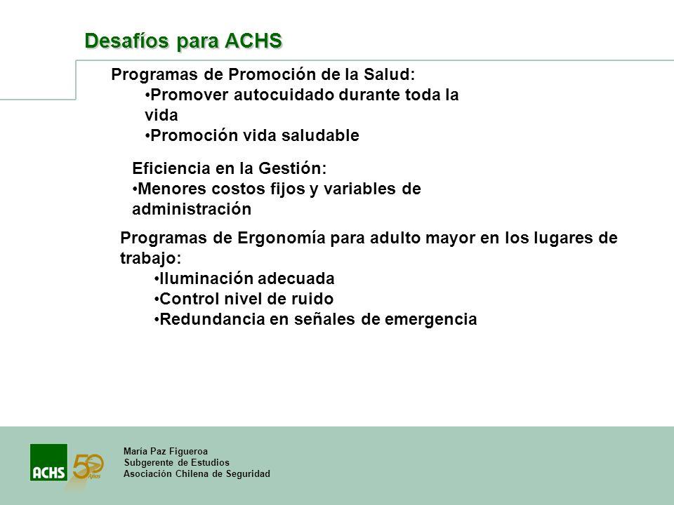 Desafíos para ACHS Programas de Promoción de la Salud: